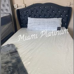 Queen Bed With Mattress // Financing Available  Thumbnail
