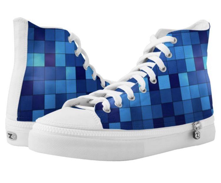 Men's Blue High Top Sneakers