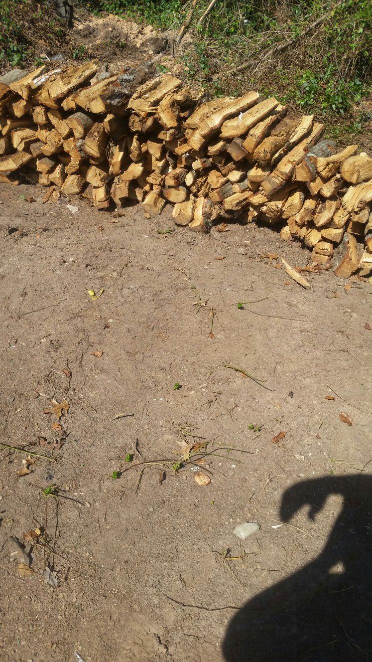 Hickory & oak wood