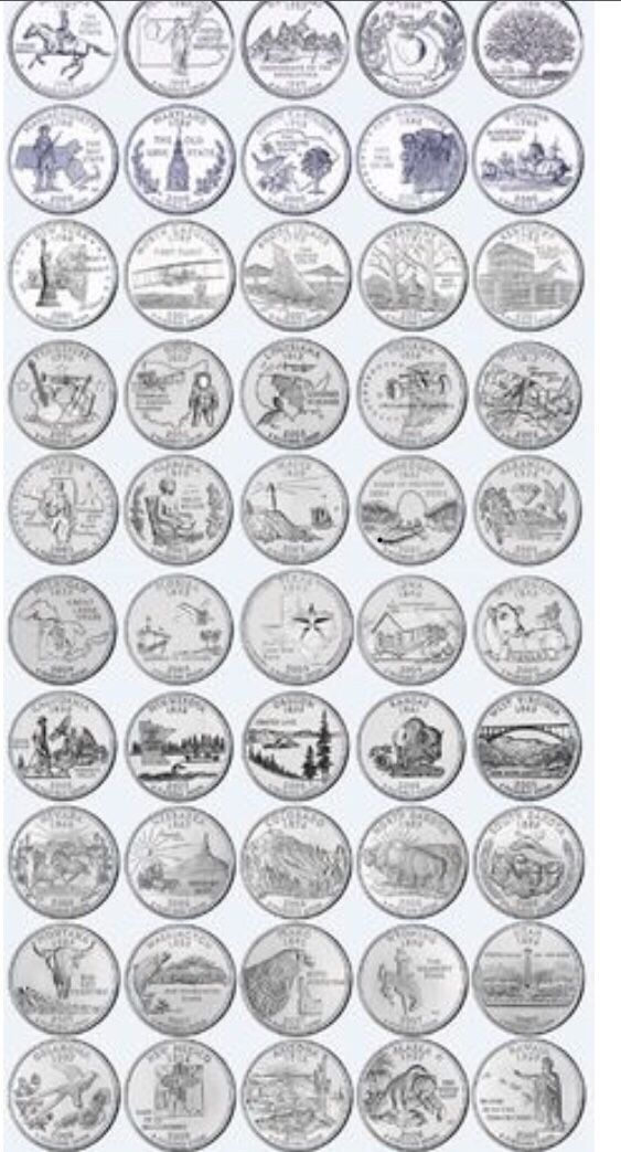 All 50 State State Quarters