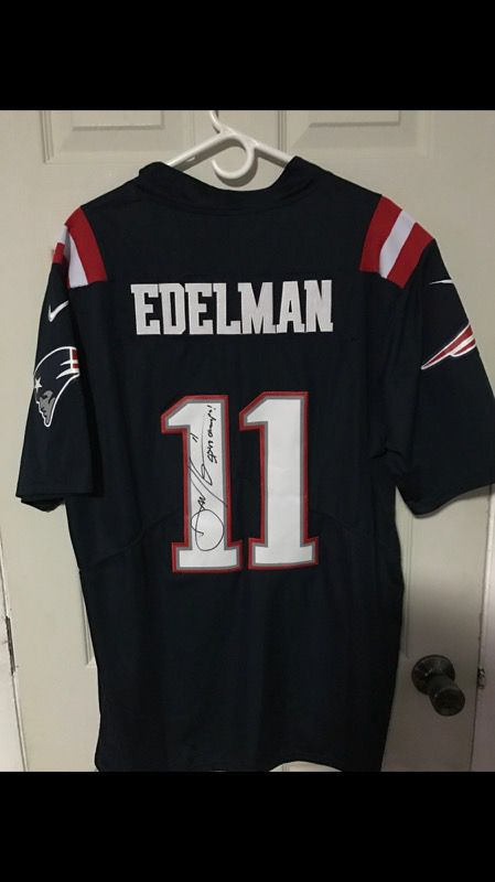 be9e6cddcbb ... ireland new england patriots julian edelman jersey autographed super  bowl 49 for sale in charlestown ma
