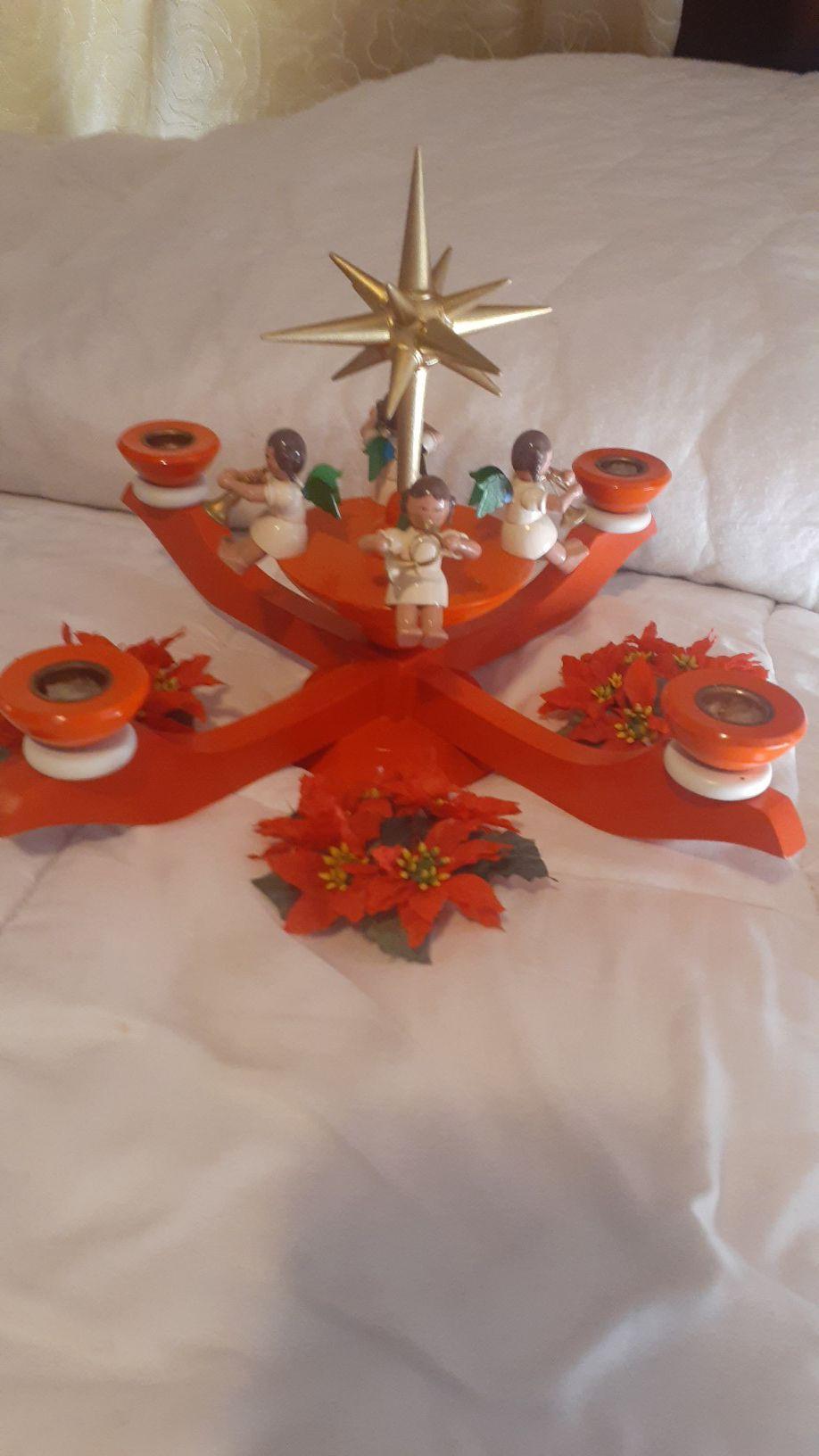 Erzgebirge vintage candle holder