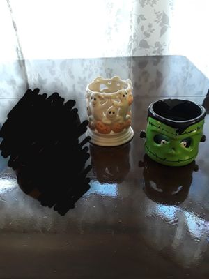 Small Cute Decorations Tealight Candle Holders (Pumpkin & Black Cat, Ghosts, and Frankenstein) for Sale in Bell, CA