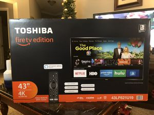 """TOSHIBA 43"""" Fire tv edition SMART 4K ULTRA HD with/voice remote with ALEXA $325 for Sale in Gaithersburg, MD"""