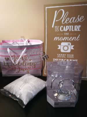 BRIDAL ITEMS - brand new, unused for Sale in WLKS BARR Township, PA