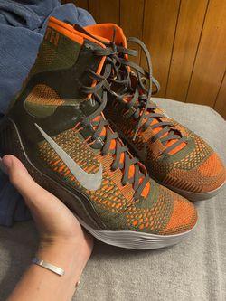 Kobe 9 elite high neon orange and army green Thumbnail