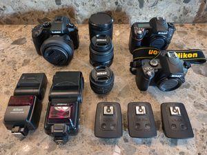Cameras, Nikon D40, D80, Lumix FZ1000 for Sale in Chandler, AZ