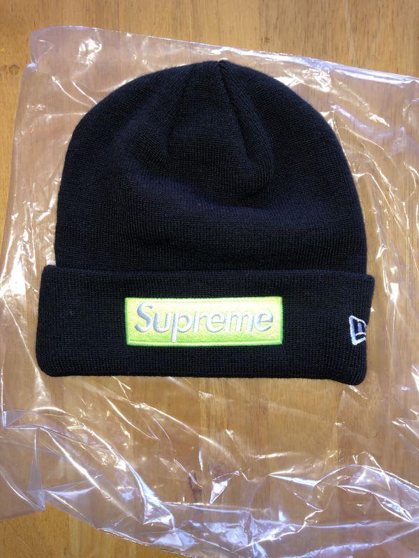 7f900a0d8bf36 Supreme New Era BOGO Beanie Black for Sale in Kansas City