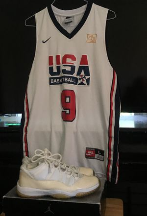 Jordan 11 Zen Grey Retro and USA Basketball Jersey for Sale in Warrenton, VA