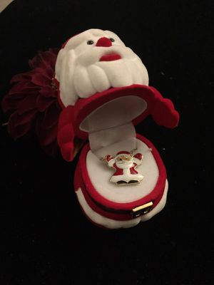 Santa Claus Necklace with gift box shaped like like Santa! for Sale in Denver, CO