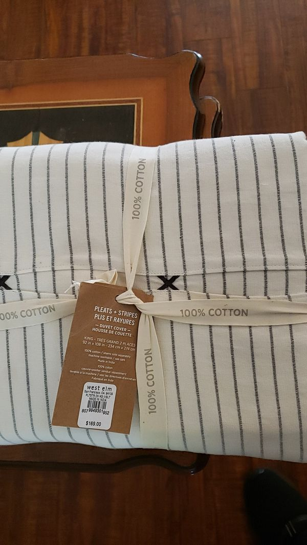 West Elm Duvet Cover And Sham Pillow Case For Sale In Los