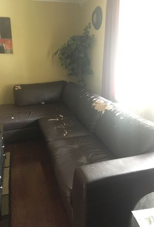 Bonded leather sectional for Sale in Springfield, VA