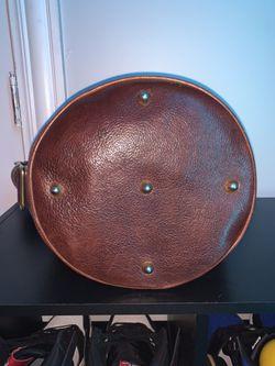 Vintage brown Marino Orlandi Heavy Leather Bucket Bag Thumbnail