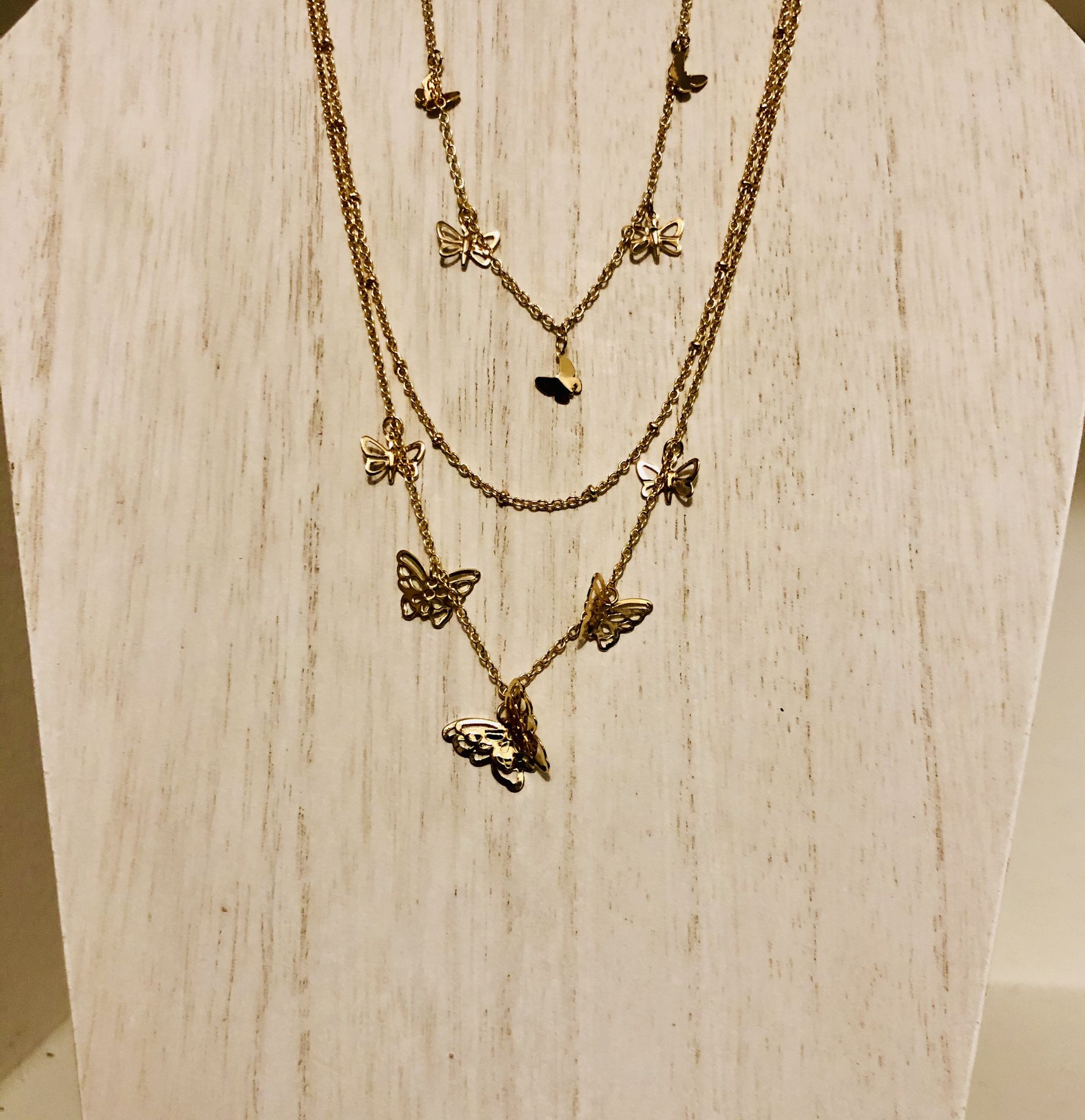 Butterfly necklace $20!!