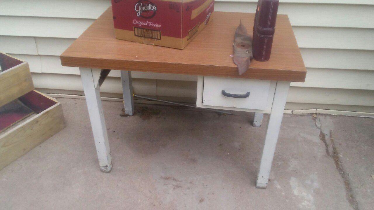 Kids Metal shop table/desk