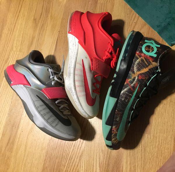 buy online 2015e b362e Nike KD 6 All Star KD 7 All Star Christmas Kobe lebron Illusion Gumbo 8 9  10 11