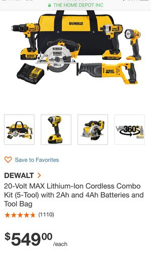 20 volt dewalt tool kit for Sale in St. Louis, MO
