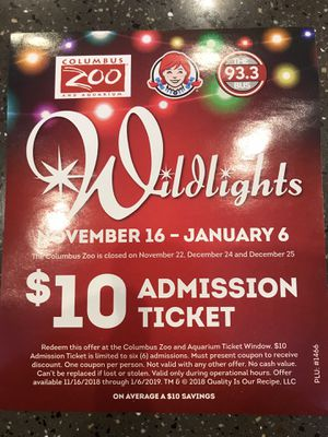 Zoo Wild lights tickets for Sale in Columbus, OH