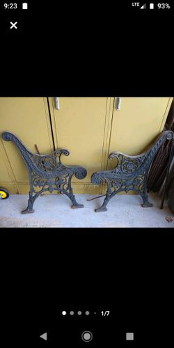 Wrought ironed bench ends Thumbnail