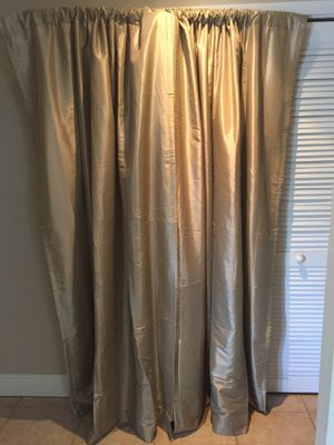Two 54x84 satin blackout curtains for Sale in Miami, FL