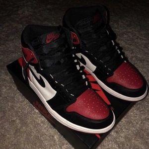Jordan 1 bred toe size 10 for Sale in Germantown, MD