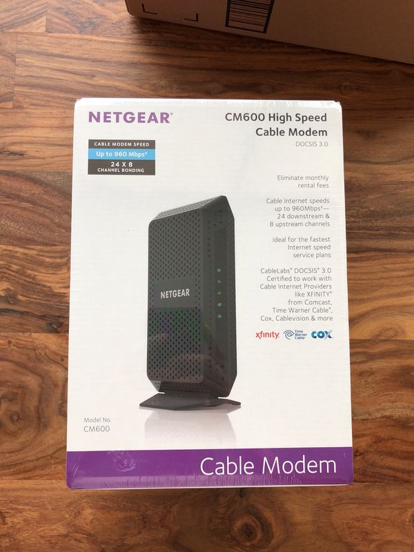 NETGEAR CM600 Cable Modem for Sale in San Francisco, CA - OfferUp