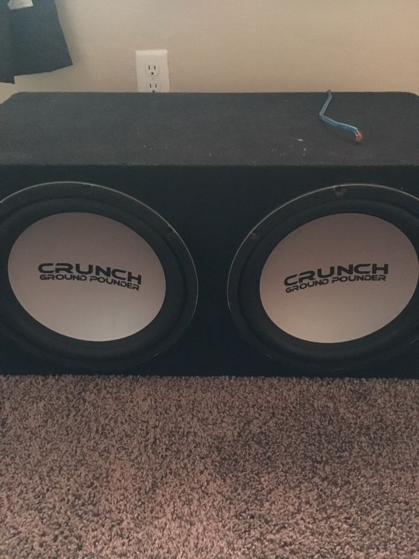 2 12 inch Crunch ground pounder subwoofers $250 OBO for Sale in Pasco, WA -  OfferUp