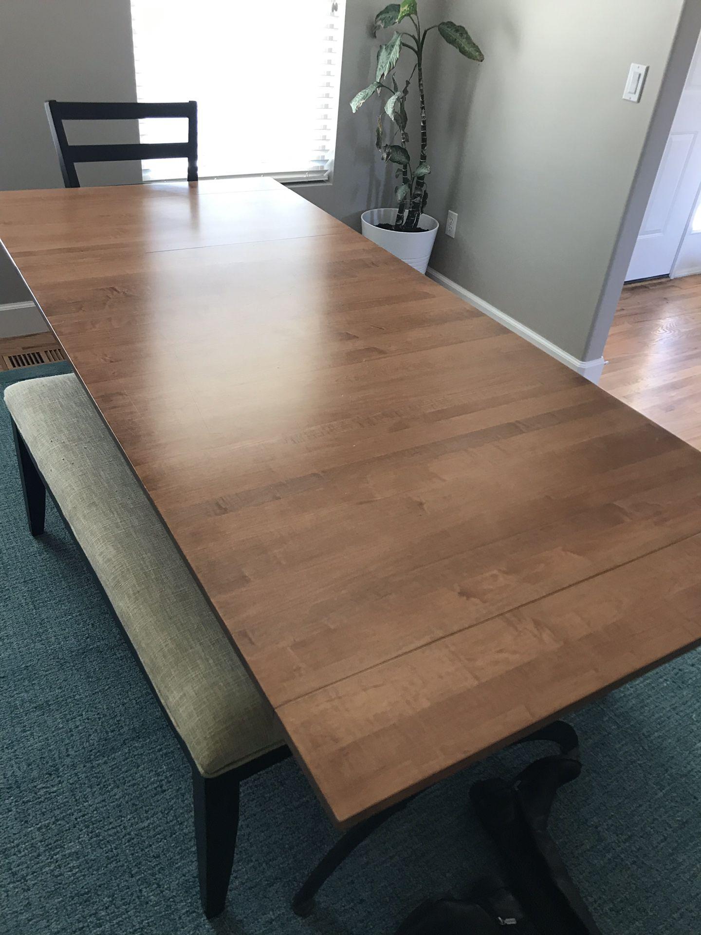 Ethan Allen Counter Height Extension Table, Iron Base