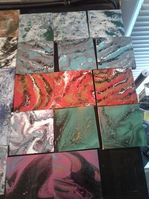 Acrylic Pour Art Coasters for Sale in Marysville, WA - OfferUp