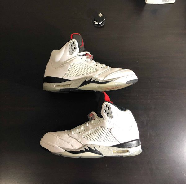 "d2a100180721 Jordan 5 Retro ""White Cement"" 136027-104 Men s Size 12 for Sale in ..."