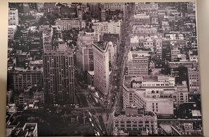 "Art New York city buildings flatiron black and white 79""x 55"" for Sale in Chicago, IL"