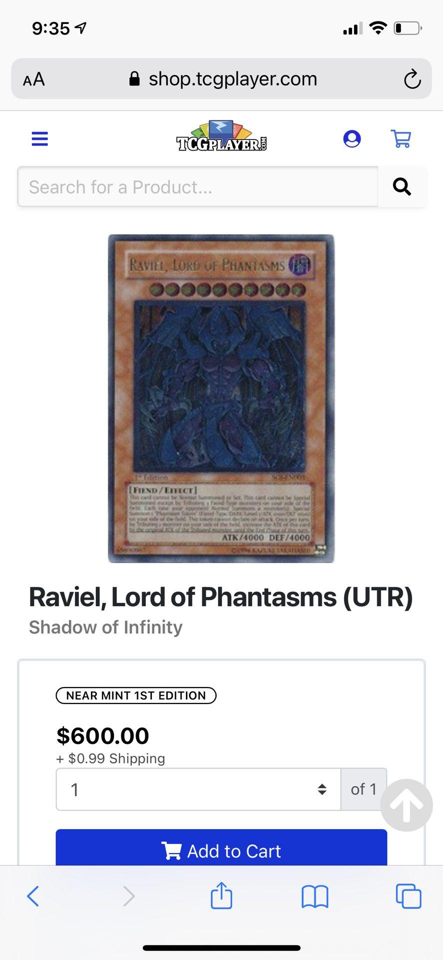 Raviel, Lord Of Phantasms — Yu-gi-oh