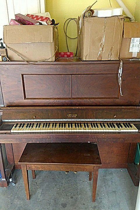 Story and Clark early 1900's self playing piano with over 50 music rolls  and bench included  for Sale in US - OfferUp