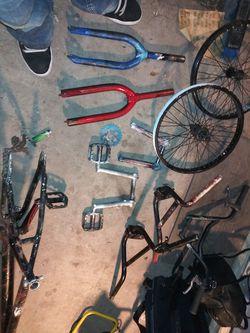 Bmx parts lot Thumbnail