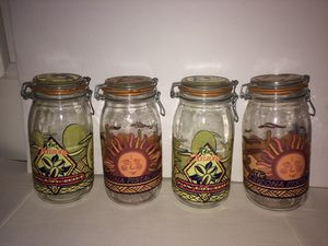 4 Vintage THE ARIZONA Pistachio Co. Large Glass Mason Jar Containers - $8 each or $25 for ALL for Sale in Chantilly, VA