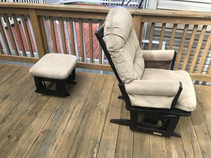 Hoop Glider chair and ottoman set for Sale in Germantown, MD