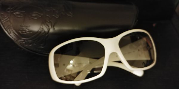 8ccf0102cc3e Versace sunglasses  white oversized frames for Sale in San Jose