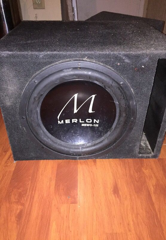 MERLON MEWO-12s 12in Subwoofer for Sale in Houston, TX - OfferUp