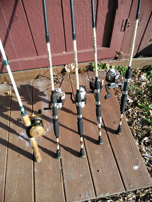 Fishing rod and reels for Sale in Jeffersonville, IN
