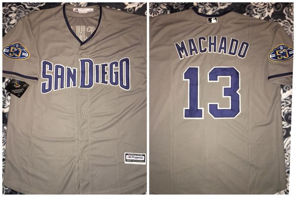 new concept 6e7e3 b7bfb Padres Grey 'Away' Jersey #13 Manny Machado Size L for Sale in Chula Vista,  CA - OfferUp