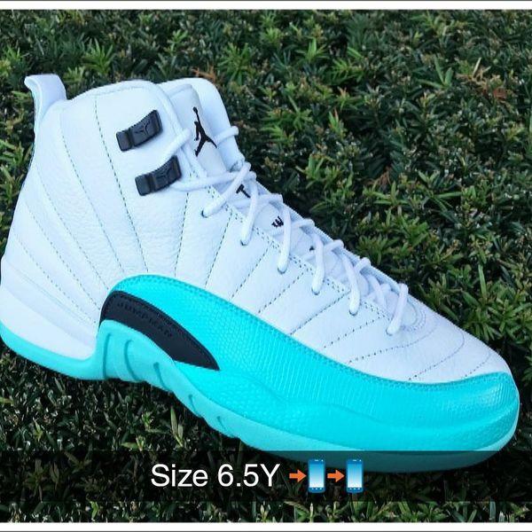70d25adda4815e Air Jordan Retro 12 Girls GS Aqua for Sale in San Lorenzo