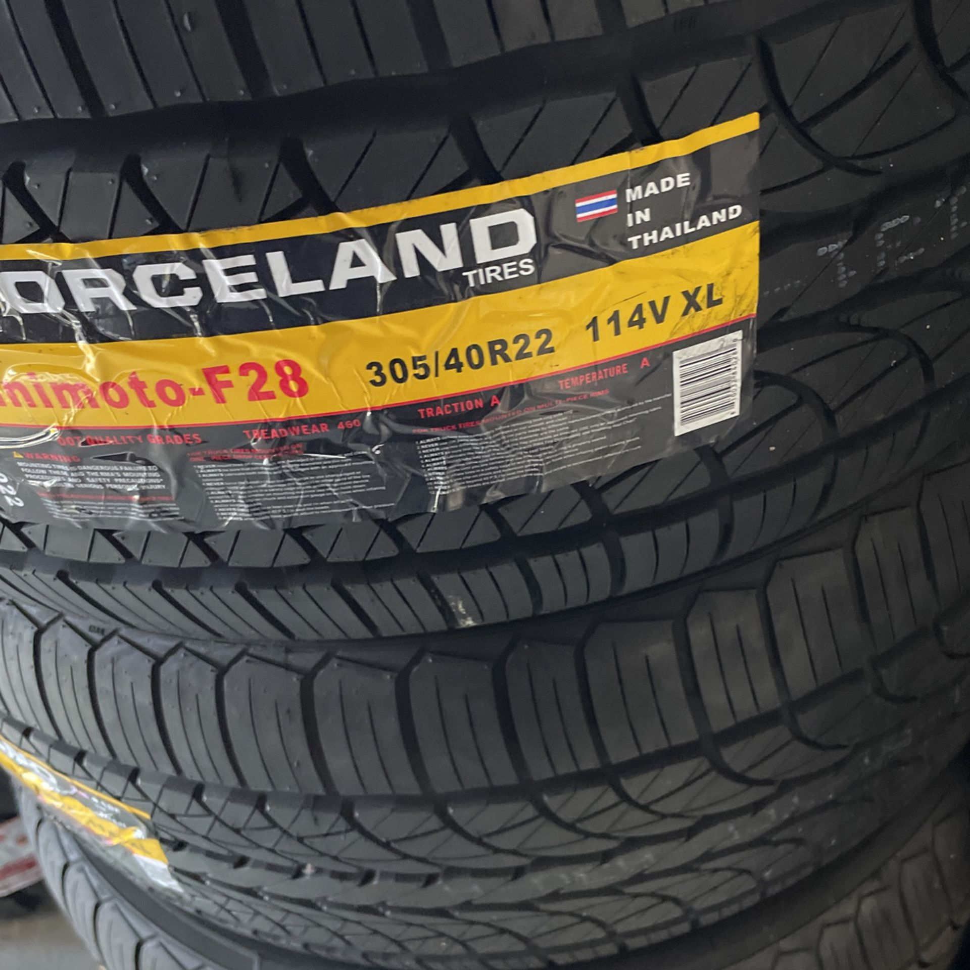 Selling 4 .. 305 40 R 22 Force All Season tire's for $560 for the set installed and balanced  All NEW tire's come with a 1 year Road hazard warranty a