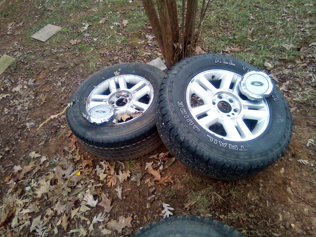 Photo Ive got two spare wheels for a 2004 f150 will fit an 03 to an 05 6 lug tires do not match but are the same size both are all terrain