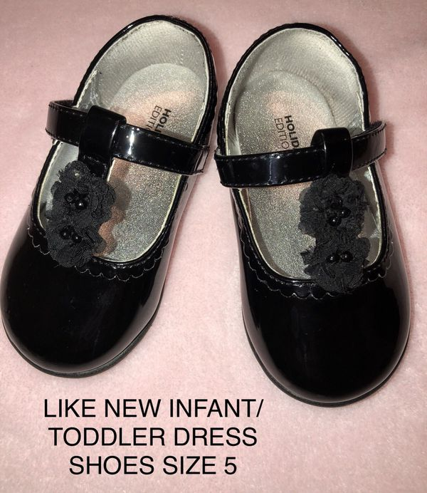 Black Infant Toddler Dress Shoes Size 5 Baby Kids In Visalia