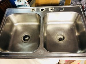Stainless Steel Double Sink for Sale in Lincoln Park, MI