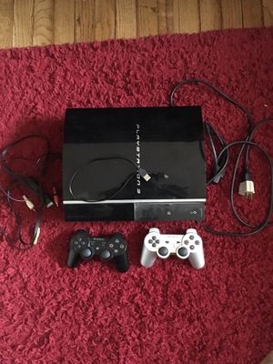 Ps3 with 2 controllers, gta5, bo2 for Sale in Washington, DC