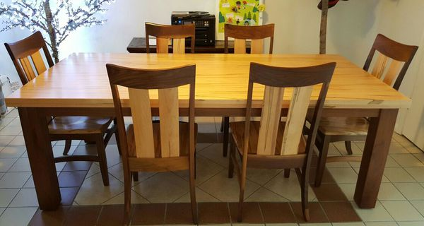 Real Solid Wood American Made Dinning Table For Sale In