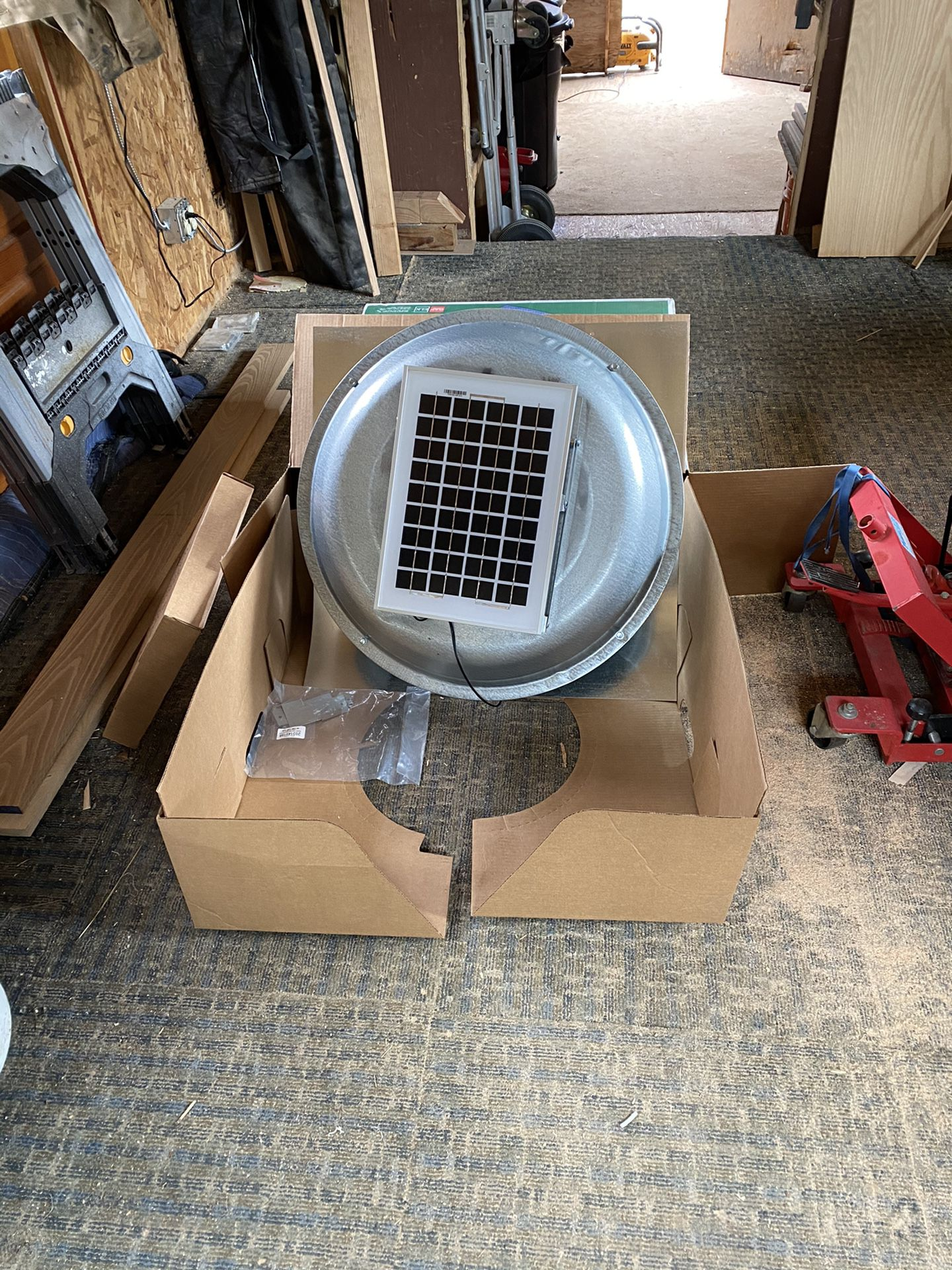 Solar powered roof vent