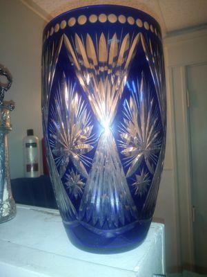 Cobalt Blue Crystal Vase for Sale in Salt Lake City, UT