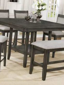 6 Pcs counter height dining table. Price firm. 2  Thumbnail